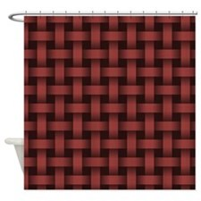 Marsala Basket Weave Shower Curtain