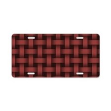 Marsala Basket Weave Aluminum License Plate