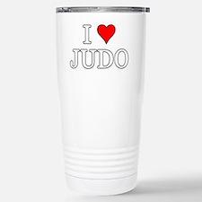 I Love Judo Stainless Steel Travel Mug
