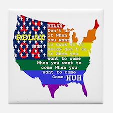 Relax 1984 Tile Coaster