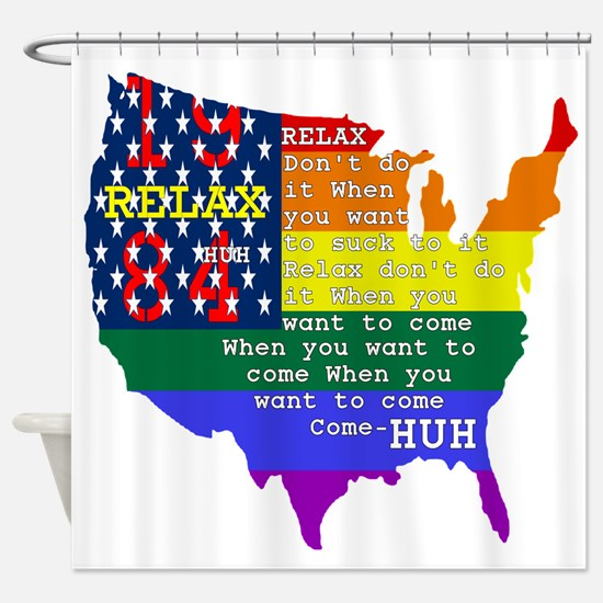 Relax 1984 Shower Curtain
