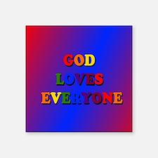 God loves everyone (rainbow) II Sticker