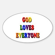 God loves everyone 3-tier Decal