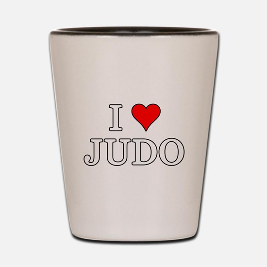 I Love Judo Shot Glass