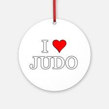 I Love Judo Ornament (Round)