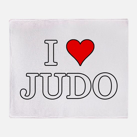 I Love Judo Throw Blanket