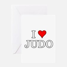 I Love Judo Greeting Cards