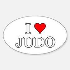 I Love Judo Decal