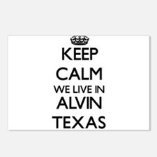 Keep calm we live in Alvi Postcards (Package of 8)
