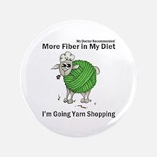 "Sheep As A Ball Of Yarn 3.5"" Button"