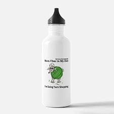 Sheep as a ball of yarn Water Bottle