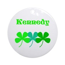 Personalized Irish Name 4 Leaf Ornament (round)