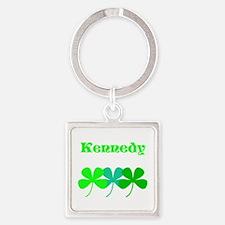 Personalized Irish Name 4 Leaf Clovers Keychains