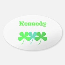 Personalized Irish Name 4 Leaf Clovers For Decal