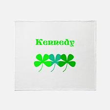 Personalized Irish Name 4 Leaf Throw Blanket