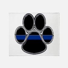 Thin Blue Line Throw Blanket