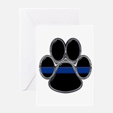 Thin Blue Line Greeting Cards