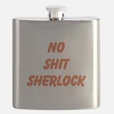 No Shit Sherlock Flask