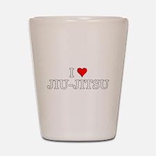 I Love Jiu-Jitsu Shot Glass