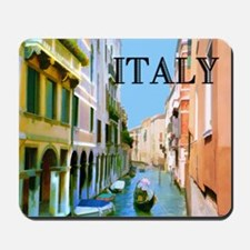 Gondolier in Canal in Venice ITALY Mousepad