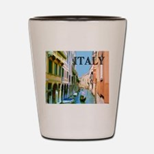 Gondolier in Canal in Venice ITALY Shot Glass