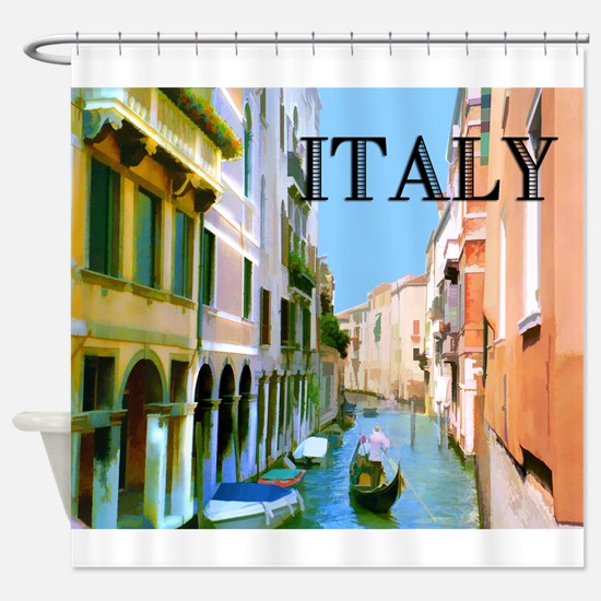 Gondolier in Canal in Venice ITALY Shower Curtain