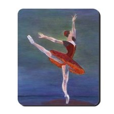 Red Ballerina Mousepad