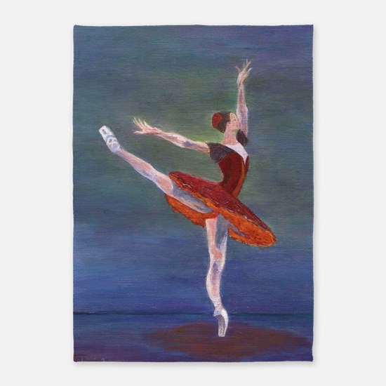 Red Ballerina 5'x7'Area Rug
