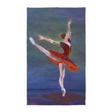 Red Ballerina Area Rug