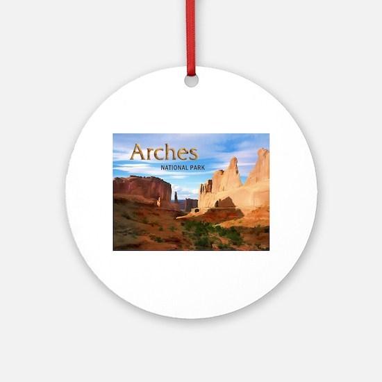 Arches Smaller Ornament (Round)