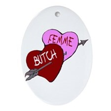 Oval Butch Femme Ornament