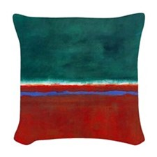 ROTHKO CHRISTMAS Woven Throw Pillow