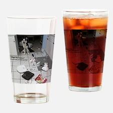 Unique Siberian husky Drinking Glass