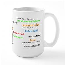 Insurance Is Fun Large Mug, many popular slogans