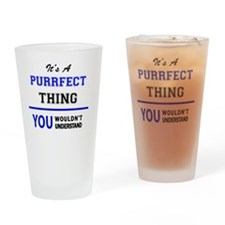 Unique Purrfection Drinking Glass