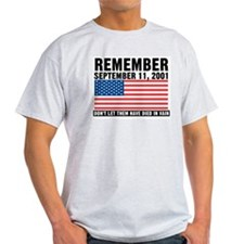 Remember 911 - Ash Grey T-Shirt