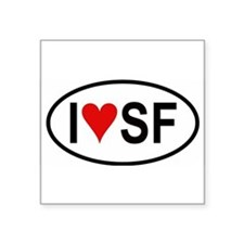 "Cute Sf bay Square Sticker 3"" x 3"""