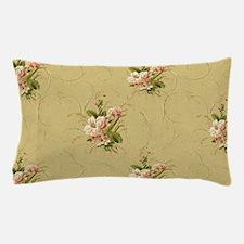 vintage beige victorian floral Pillow Case