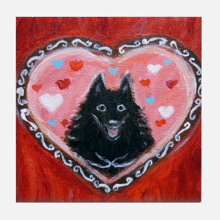Schipperke Love Tile Coaster