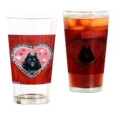 Schipperke Love Drinking Glass