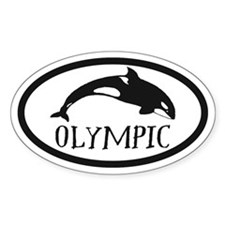 Olympic Whale Watching Sticker (oval)