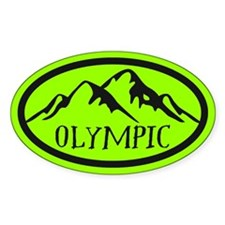 Olympic Mountain Oval Decal