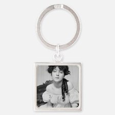 Cute Black actress Square Keychain