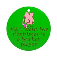 Christmas Ornament (Round). Puck Bunny.