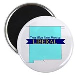 True Blue New Mexico LIBERAL Magnet