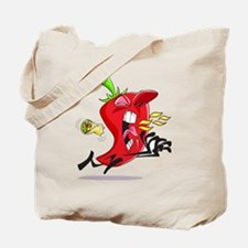 Chilli Pepper Breathing Fire Tote Bag
