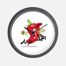 Chilli Pepper Breathing Fire Wall Clock