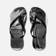 sarah bernhardt hamlet antique black wh Flip Flops