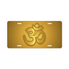 Om Aluminum License Plate