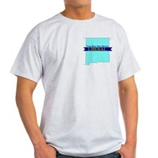 True Blue New Mexico LIBERAL Ash Gray T-Shirt